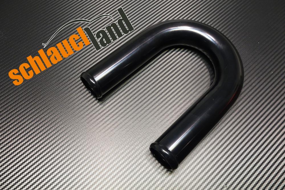 Alu-Bogen 180° Außendurchmesser 70 mm schwarz eloxiert