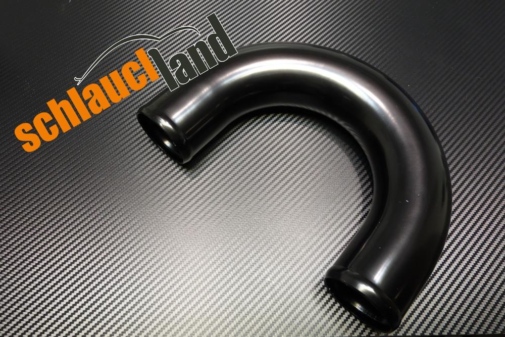 Alu-Bogen 180° Außendurchmesser 102 mm schwarz eloxiert