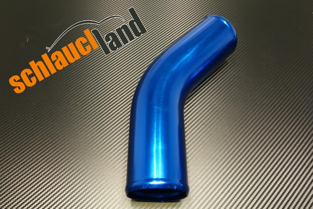 Alu-Bogen 45° Außendurchmesser 102mm blau eloxiert
