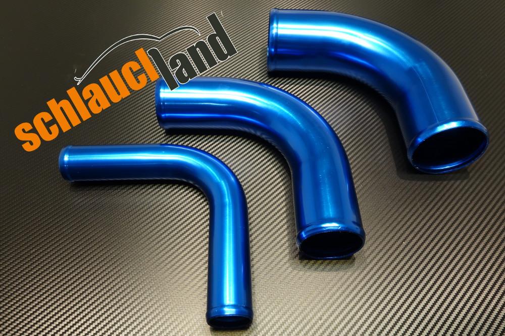 Alu-Bogen 90° Außendurchmesser 51mm blau eloxiert
