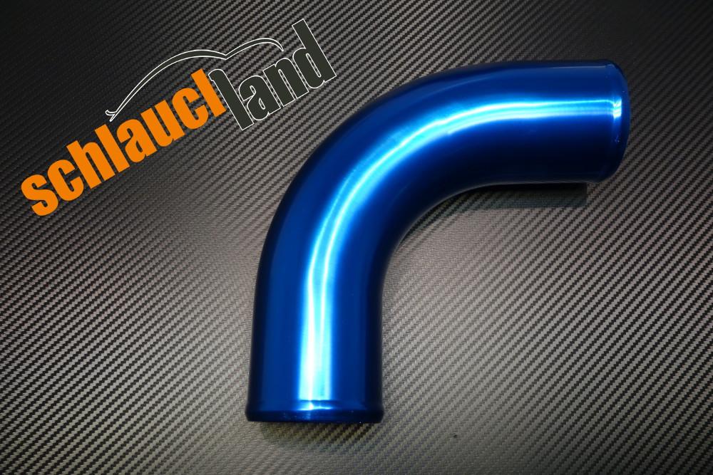 Alu-Bogen 90° Außendurchmesser 102mm blau eloxiert