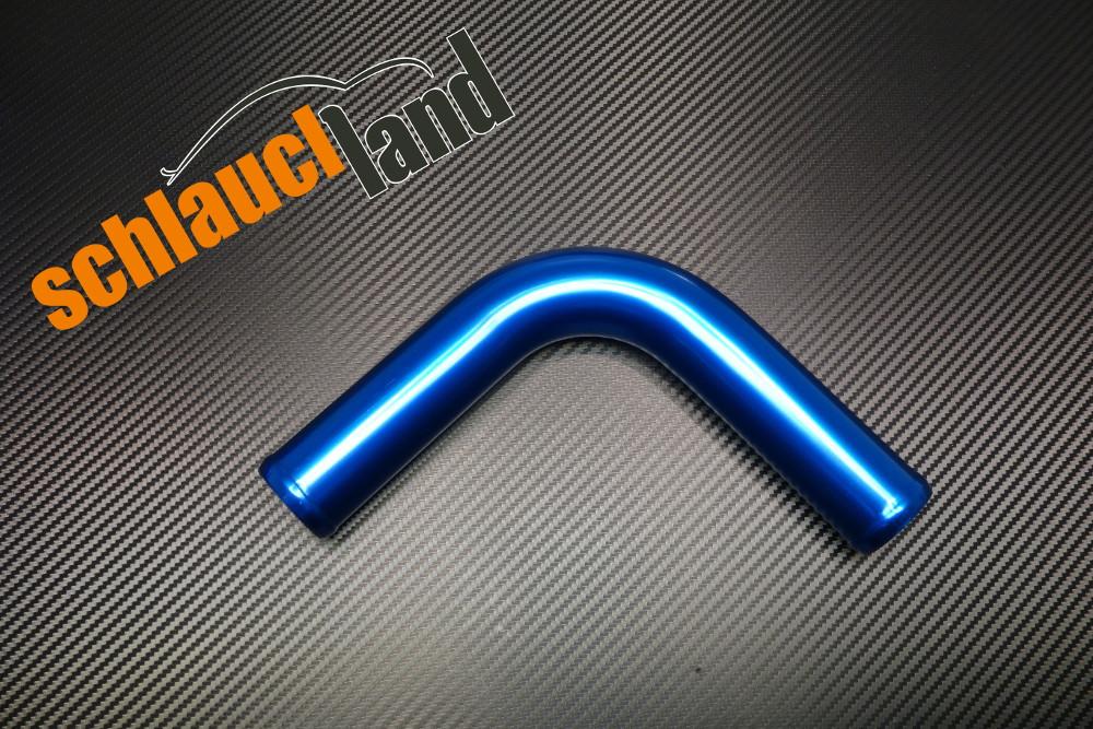 Alu-Bogen 90° Außendurchmesser 30mm blau eloxiert