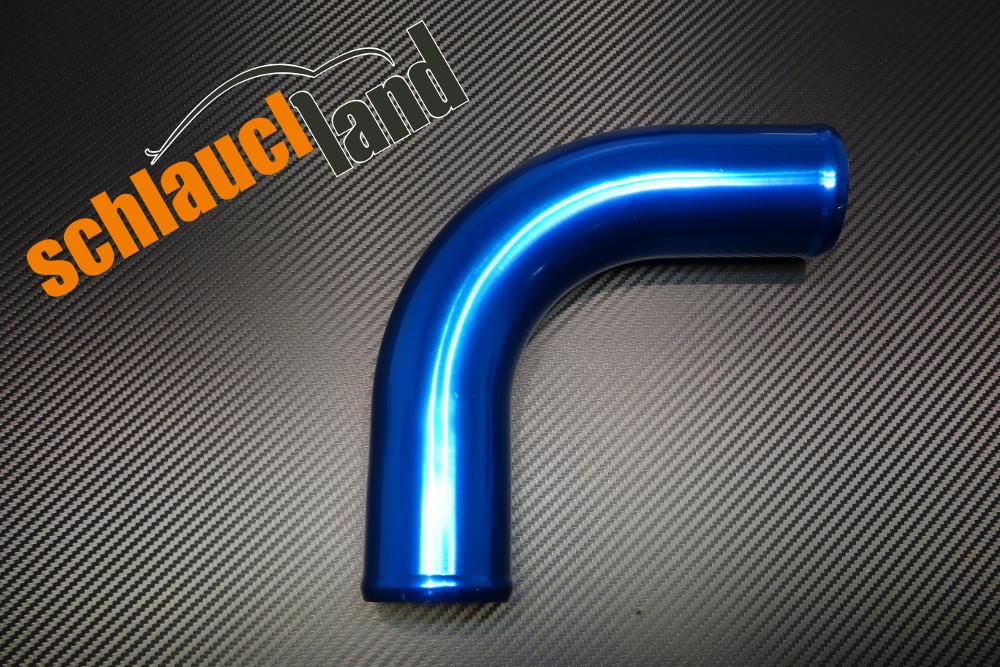 Alu-Bogen 90° Außendurchmesser 54mm blau eloxiert
