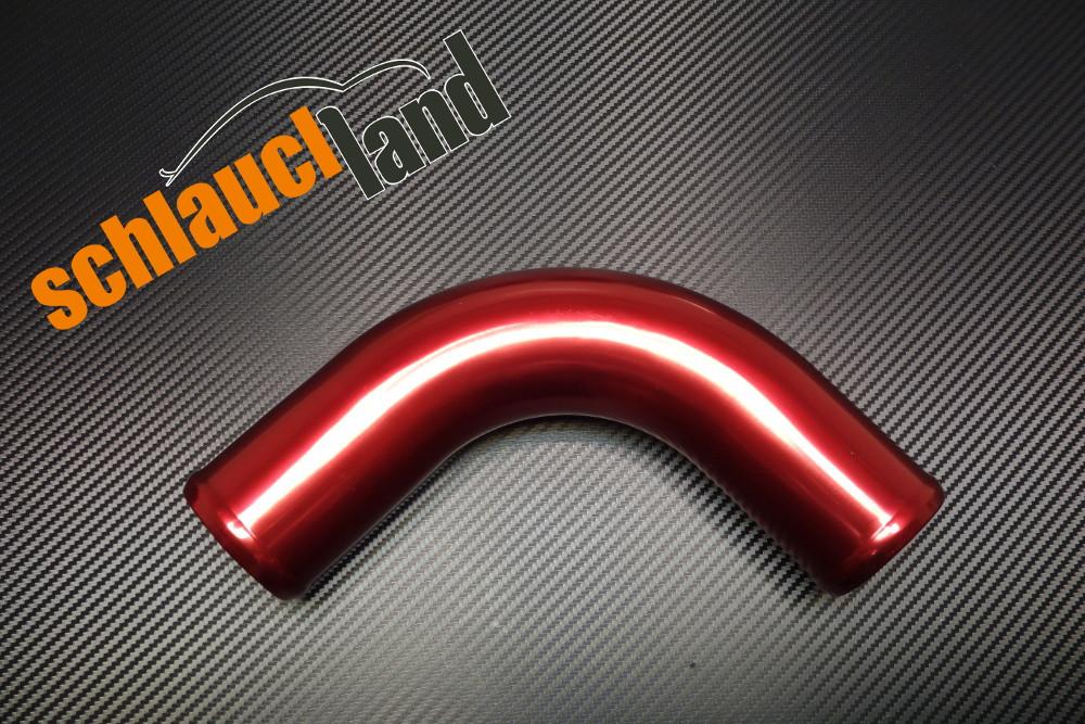 Alu-Bogen 90° Außendurchmesser 54mm rot eloxiert