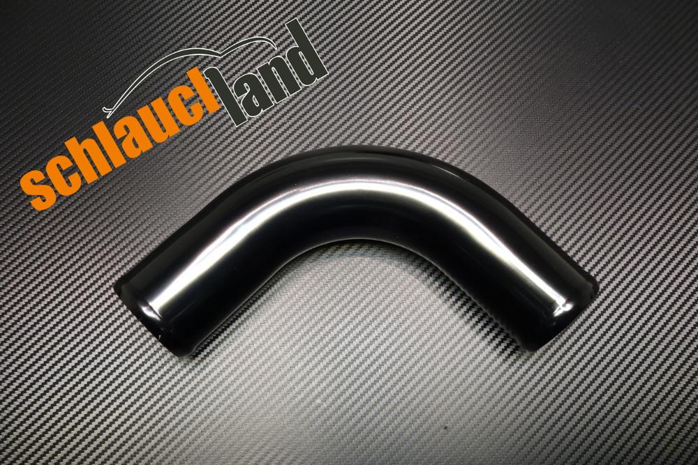 Alu-Bogen 90° Außendurchmesser 51mm schwarz eloxiert