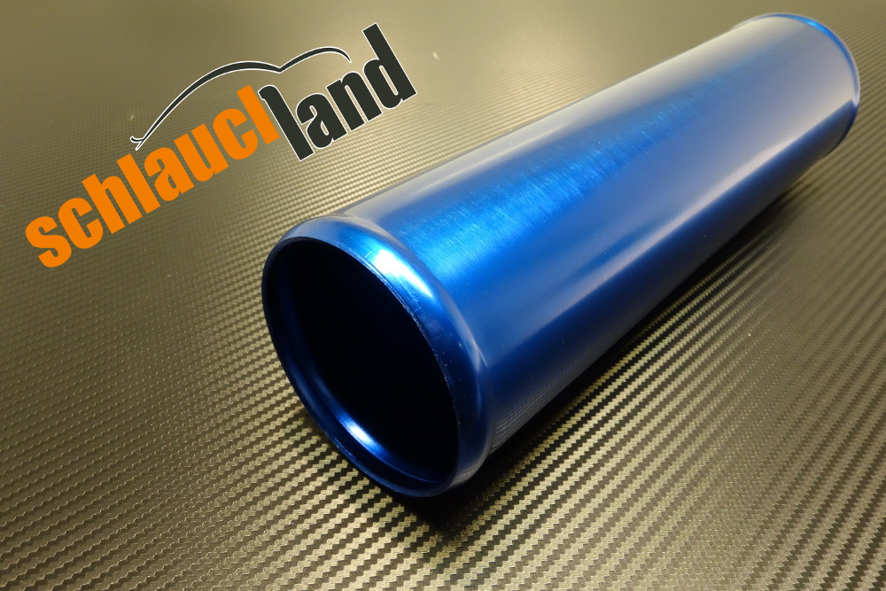 Alu-Rohr 30cm Außendurchmesser 80mm blau eloxiert
