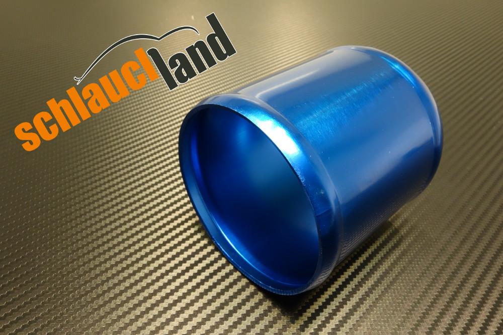 Alu-Verbinder Außendurchmesser 90 mm blau eloxiert