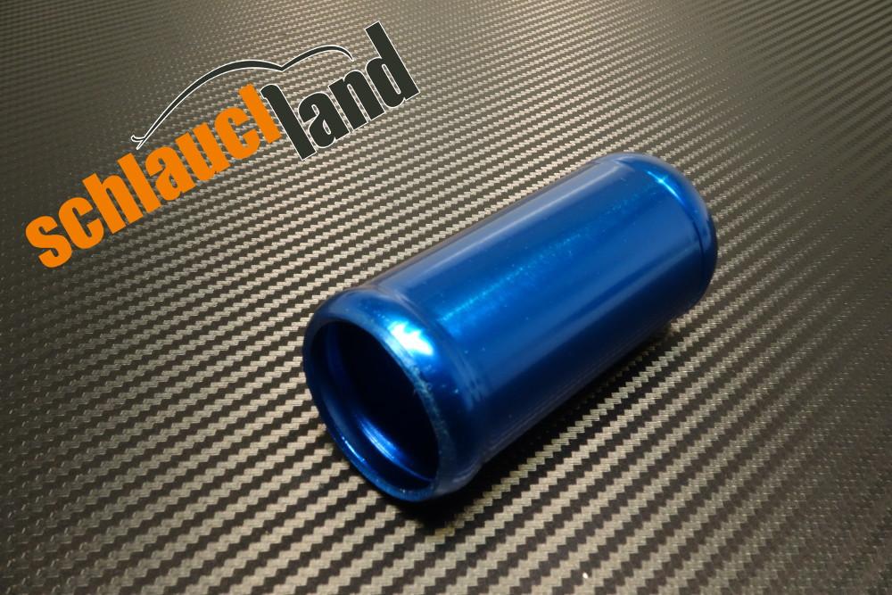 Alu-Verbinder Außendurchmesser 34 mm blau eloxiert