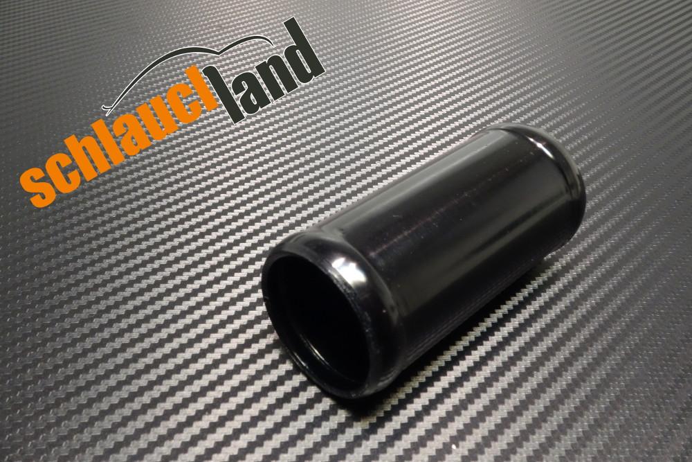 Alu-Verbinder Außendurchmesser 22 mm schwarz eloxiert