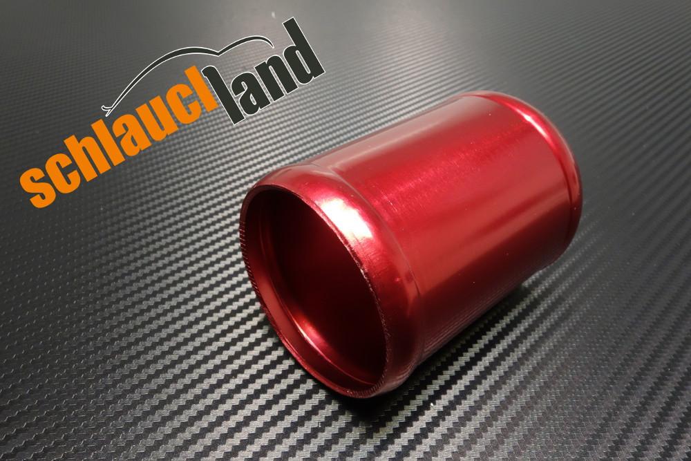 Alu-Verbinder Außendurchmesser 70 mm rot eloxiert