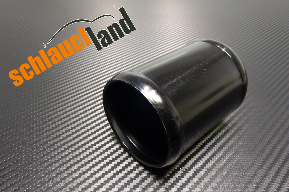 Alu-Verbinder Außendurchmesser 51 mm schwarz eloxiert