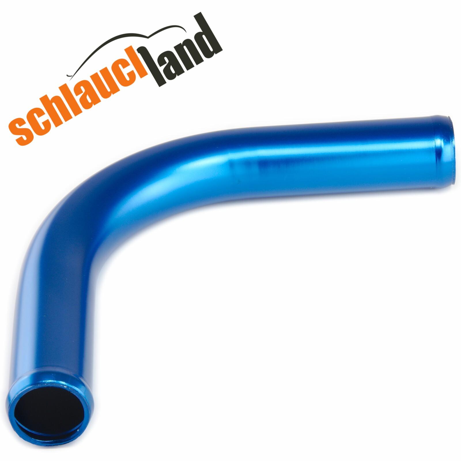 Alu-Bogen 90° Außendurchmesser 90mm blau eloxiert