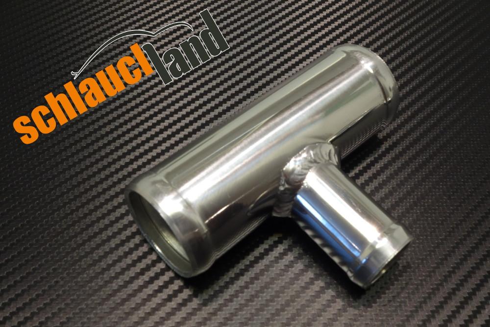 Alu T-Stück Außendurchmesser 38mm Auslass 25mm
