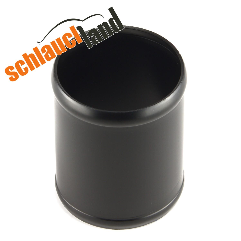 Alu-Verbinder Außendurchmesser 38 mm schwarz eloxiert