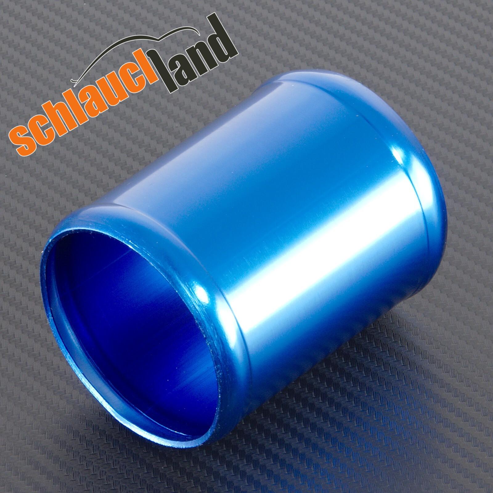 Alu-Verbinder Außendurchmesser 54 mm blau eloxiert