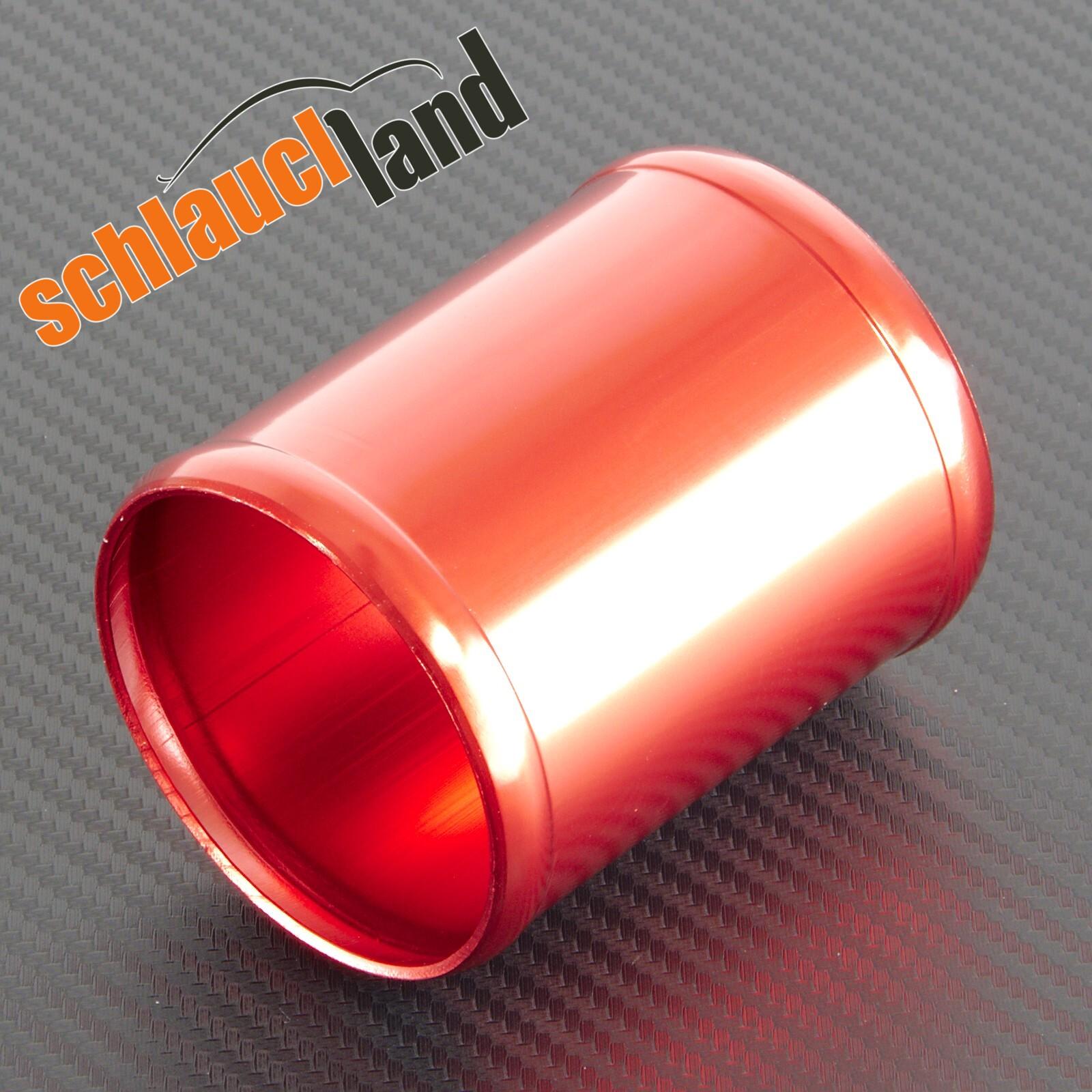Alu-Verbinder Außendurchmesser 51 mm rot eloxiert