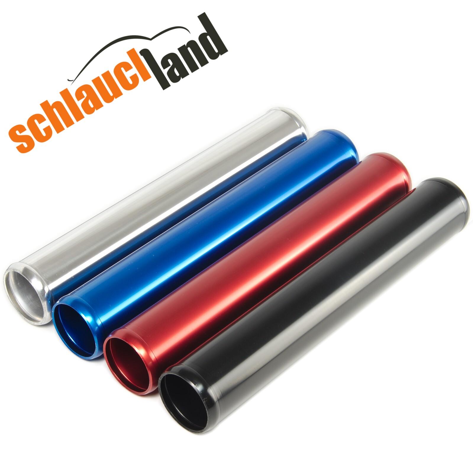 Alu-Rohr 30cm AD 41mm schwarz*** Alurohr Aluminium Rohr Schlauchverbinder Turbo
