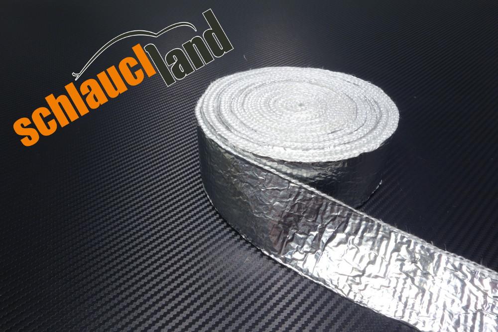 Alu-Fiberglas Hitzeschutzband 50mm x 10 Meter