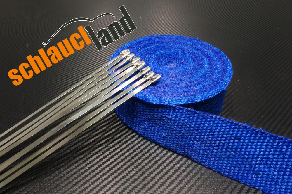 Fiberglas Hitzeschutzband 50mm x 15 Meter blau