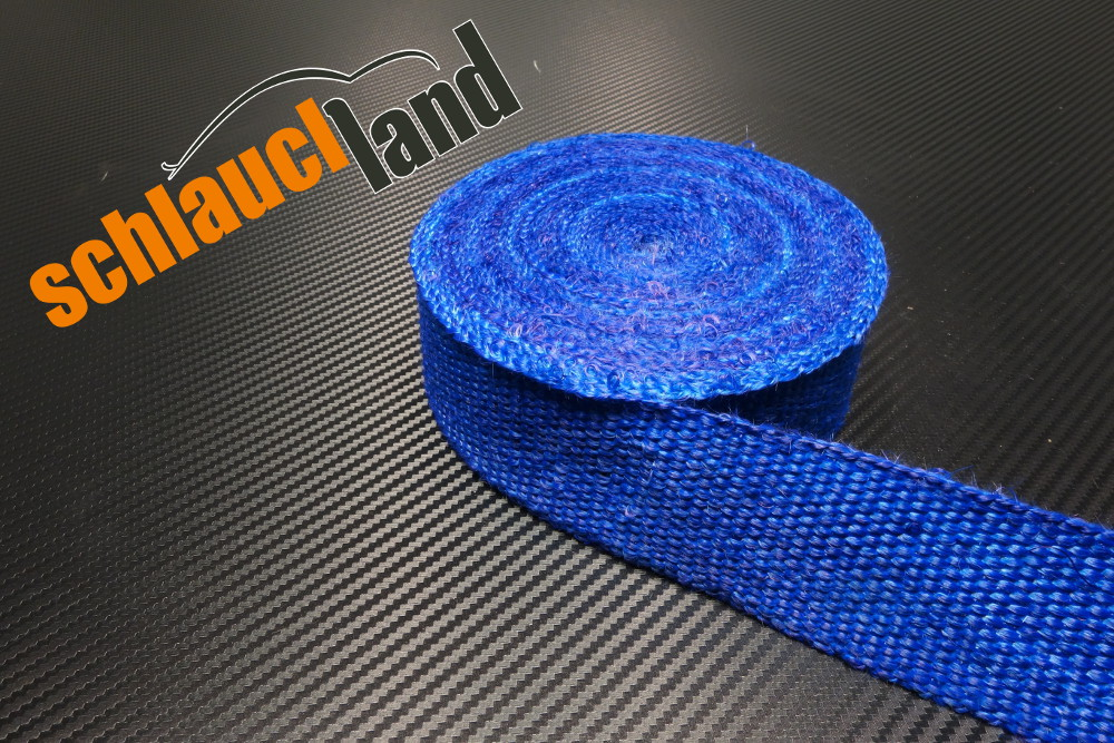 Fiberglas Hitzeschutzband 50mm x 30 Meter blau