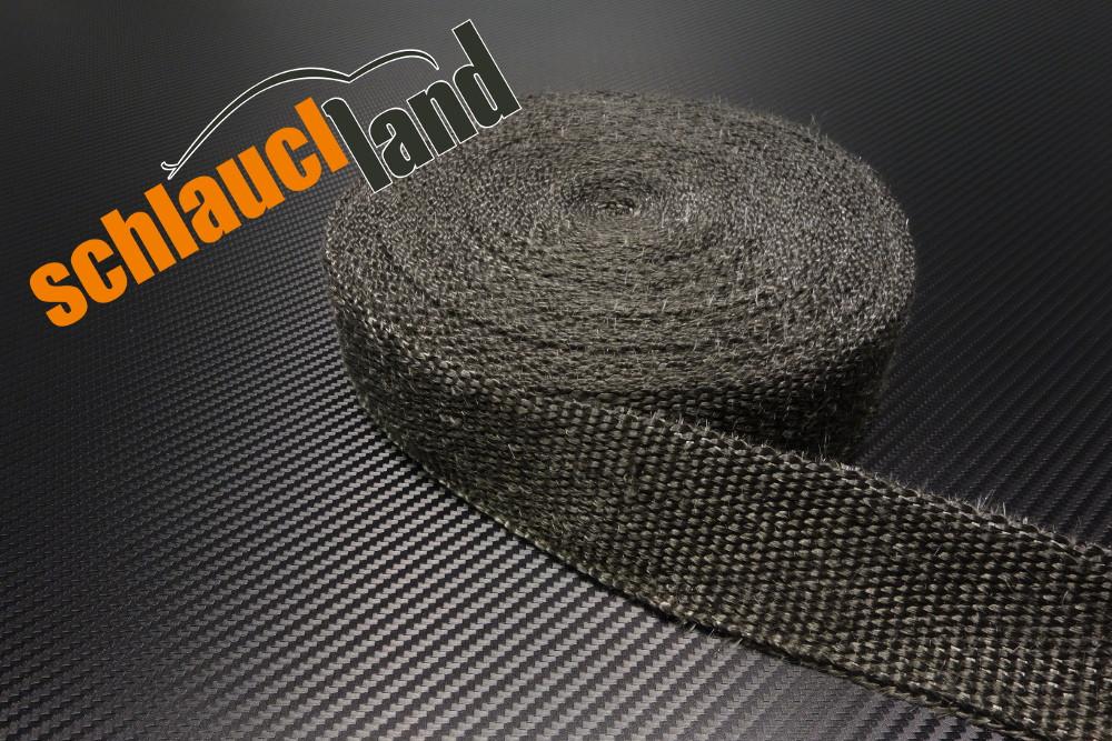 Fiberglas Hitzeschutzband 50mm x 20 Meter schwarz