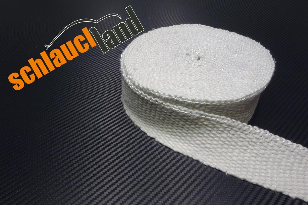 Keramik Hitzeschutzband 50mm x 10 Meter weiss