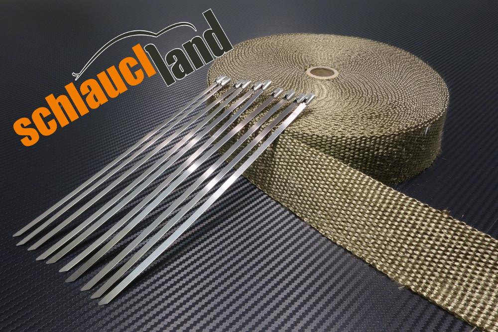 Titan Hitzeschutzband 25mm 1400°C  5,10,15,20,30m + Kabelbinder