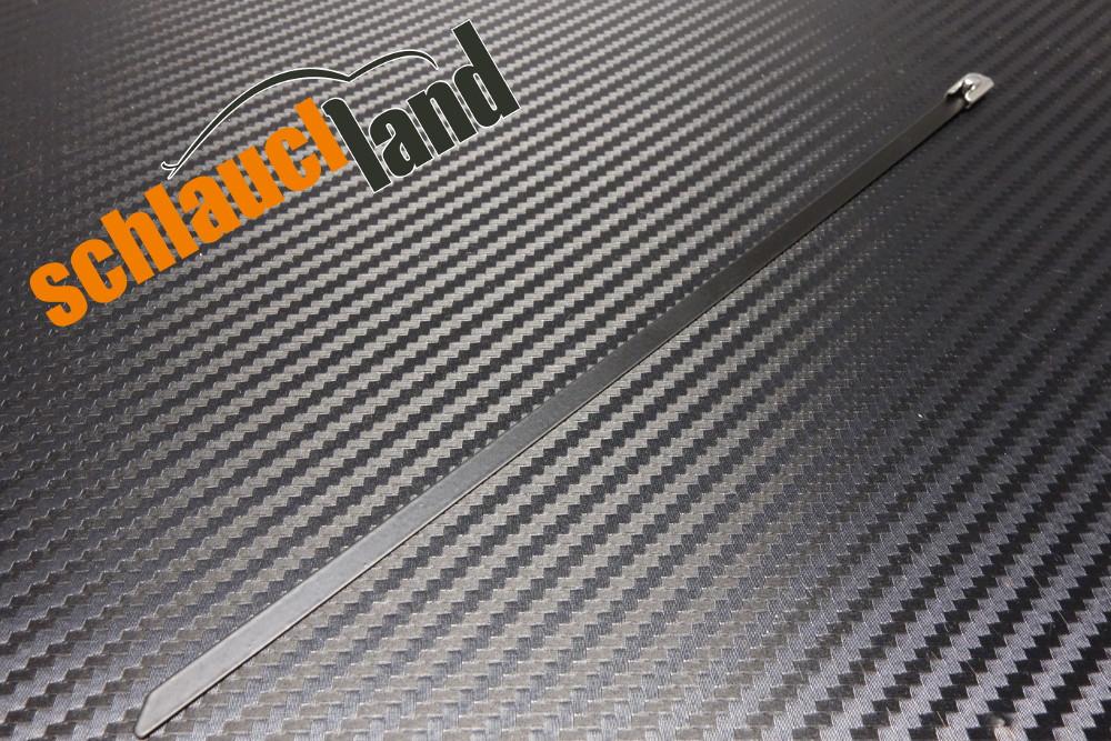Kabelbinder Edelstahl 200 mm schwarz