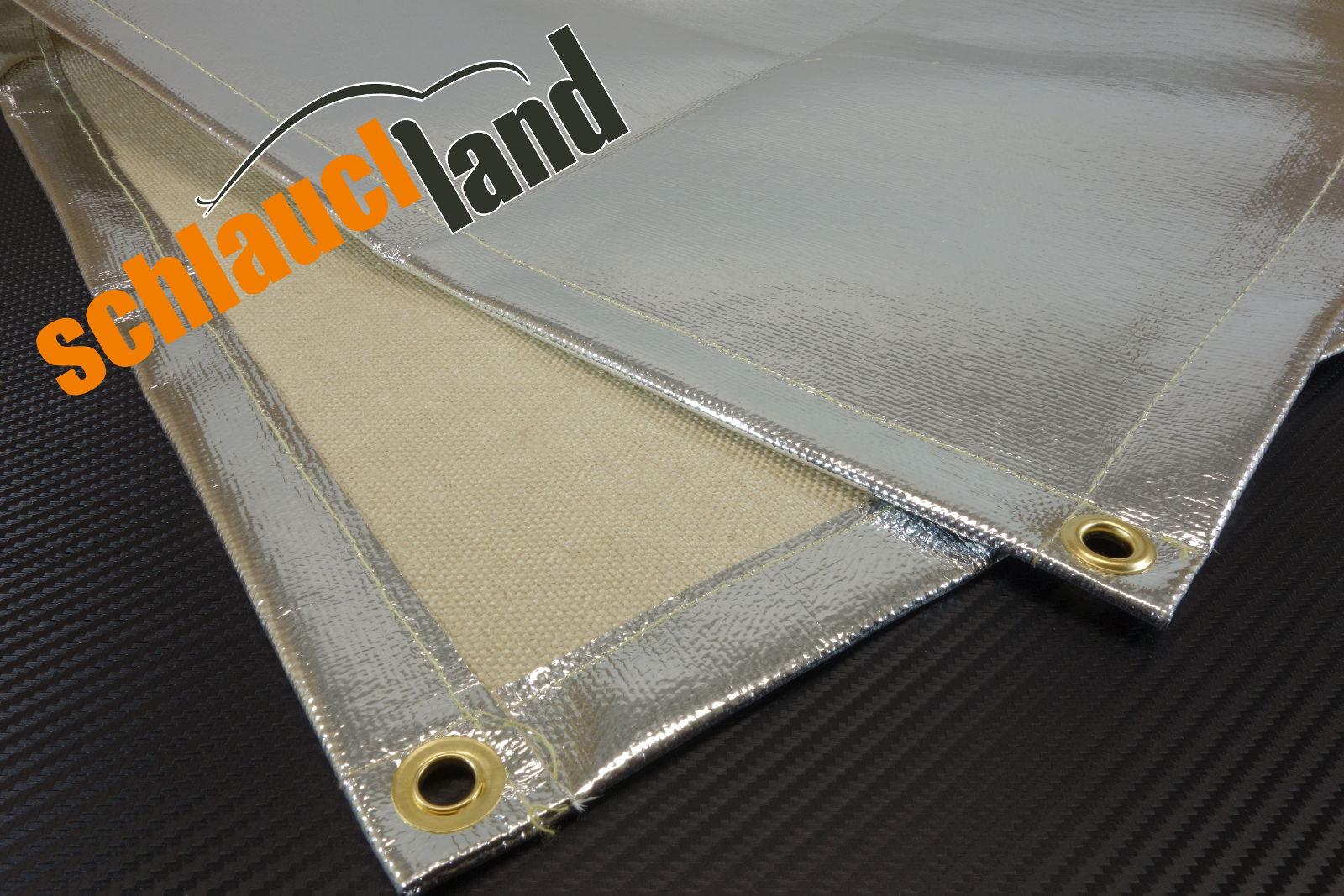 Schweißdecke / Hitzeschutzmatte Alu-Fiberglass versch. Größen