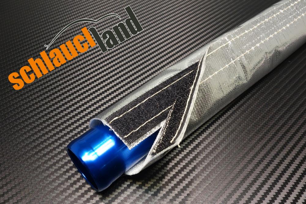 1m Alu-Titan Hitzeschutzschlauch Klett verschiedene Größen