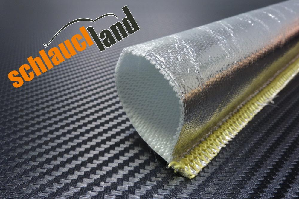 1m Alu-Titan Hitzeschutzschlauch gekettelt ID 15 mm