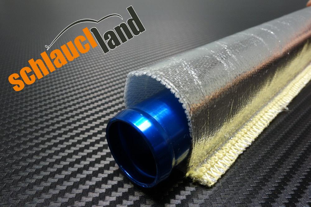 1m Alu-Titan Hitzeschutzschlauch gekettelt ID 30 mm