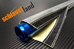 Hitzeschutzschlauch Silikon-Titan schwarz ID 8mm