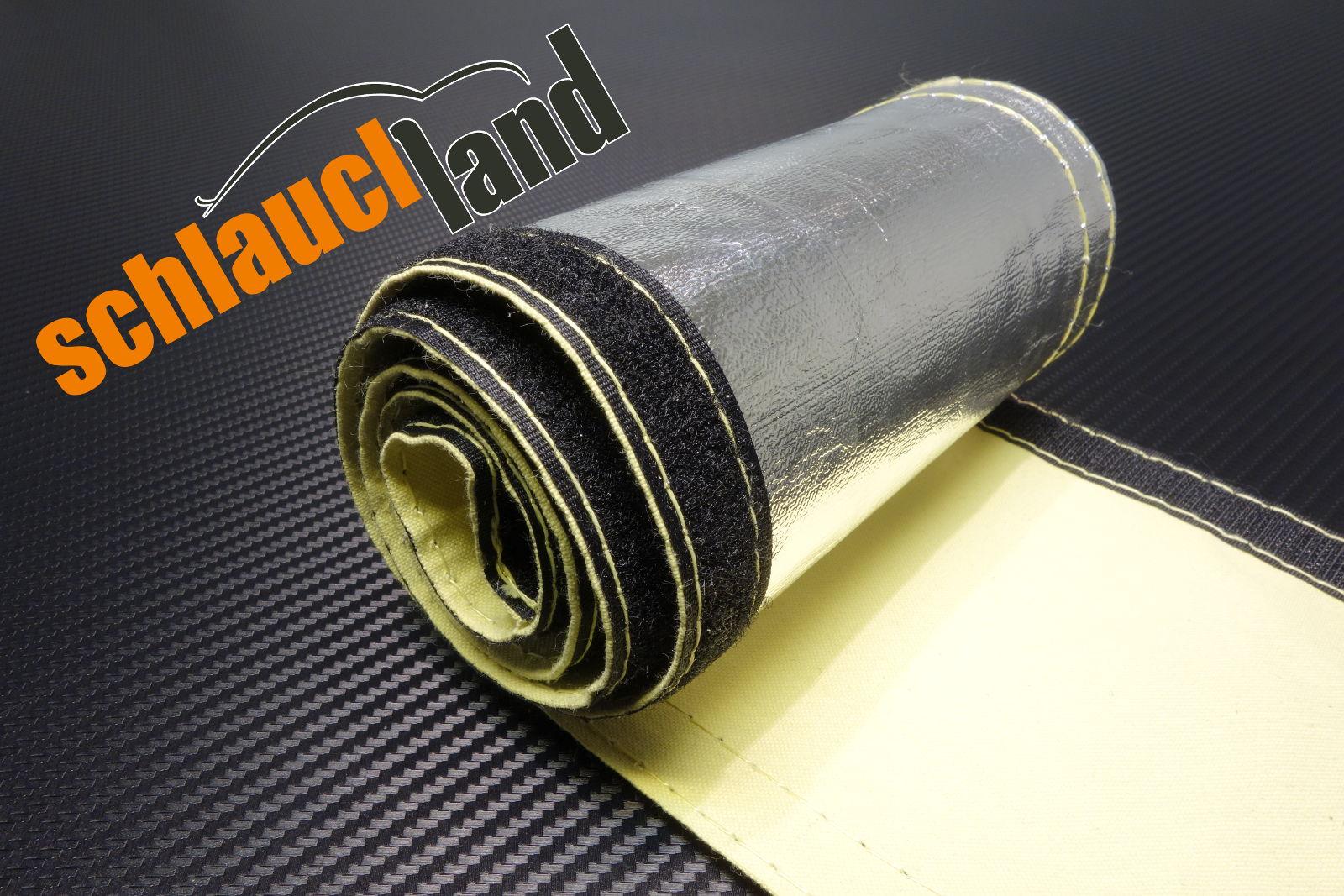 1m Alu-Kevlar Hitzeschutzschlauch Klett ID 60 mm
