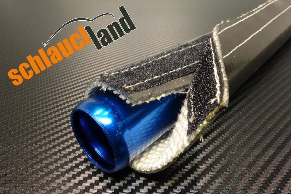 Silikon Titan Hitzeschutzschlauch Klett schwarz ID 15 mm