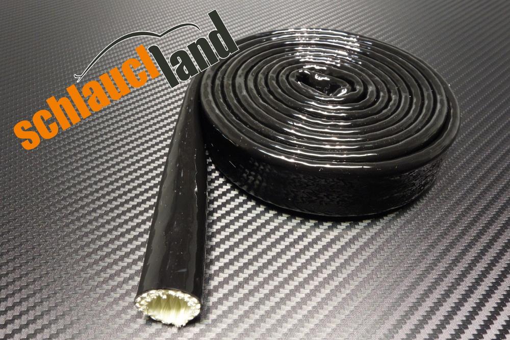 1m Silikon Titan Hitzeschutzschlauch schwarz verschied. Größen