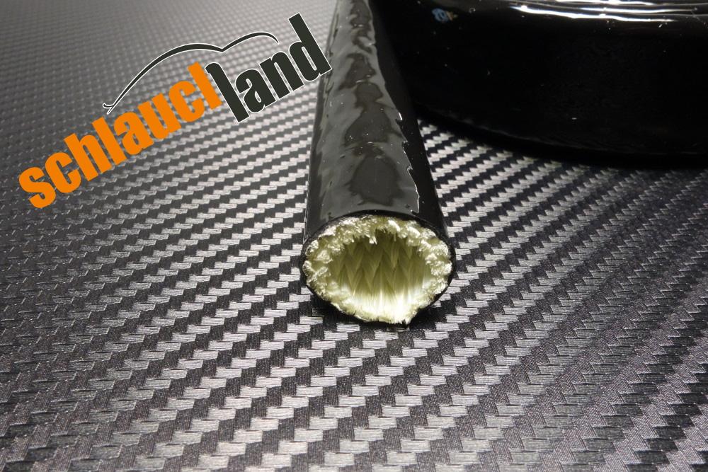 Silikon Titan Hitzeschutzschlauch schwarz ID 15 mm