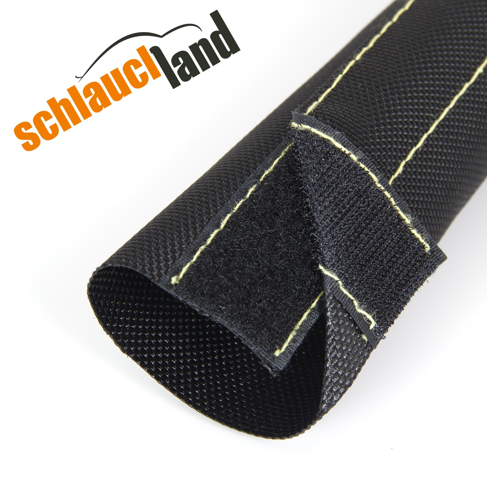 1m Nylon Gewebeschlauch Klettverschluss ID 25mm *** Kabelschutz Schutz Schlauch