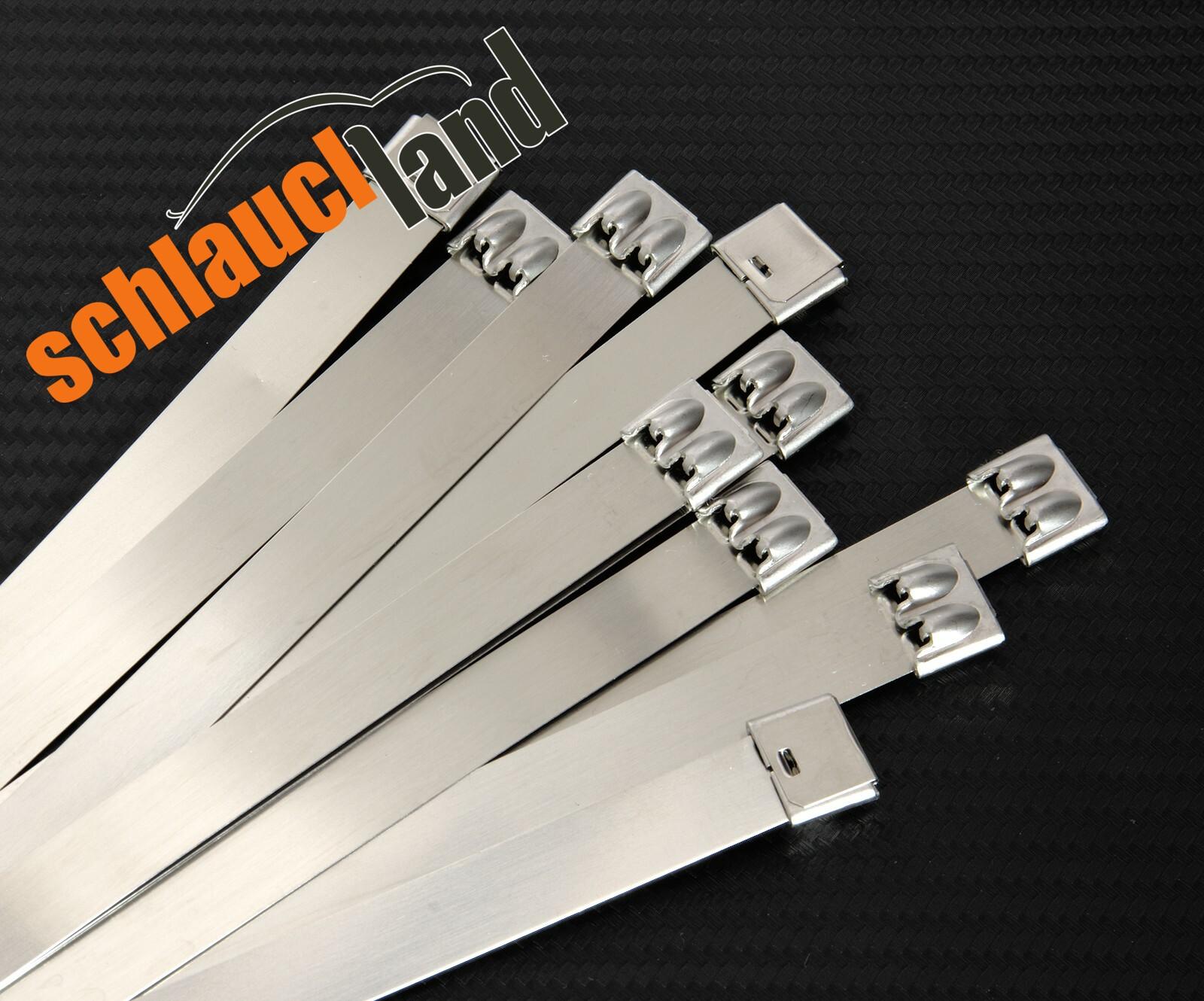 5 Stück Kabelbinder Edelstahl V2A 100 x 4,6mm