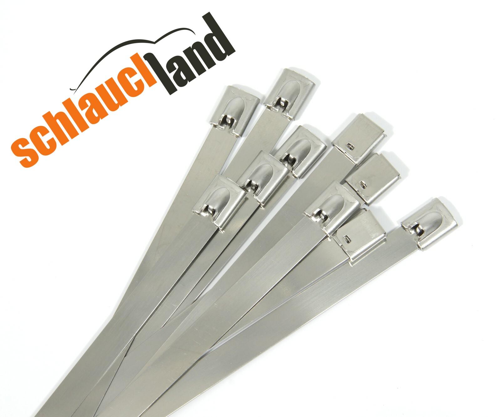 Kabelbinder Edelstahl 4,6 - 7,9 - 12 mm / Länge 100 - 750mm