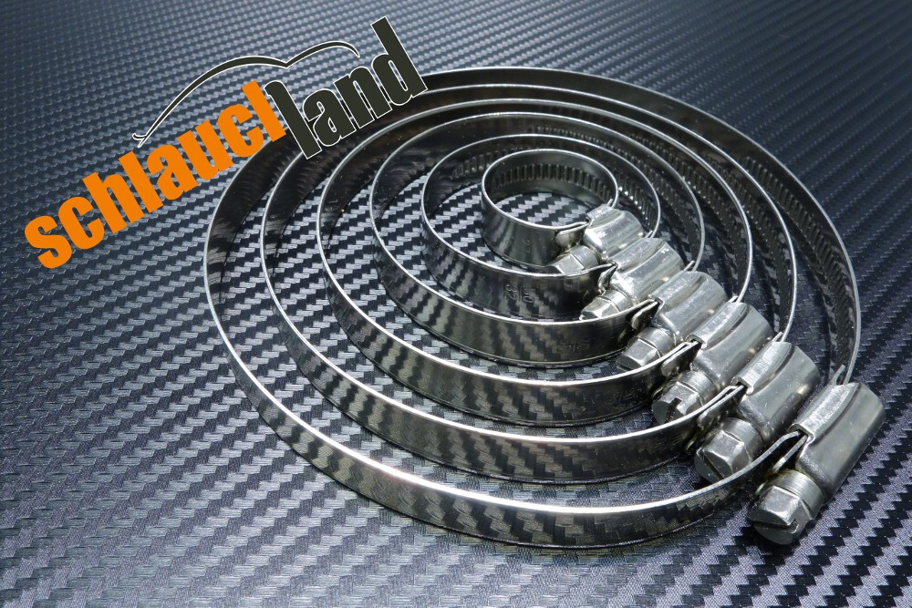 Edelstahlschelle W4 12mm 1,10,20,50,100 Stck. 12-130mm