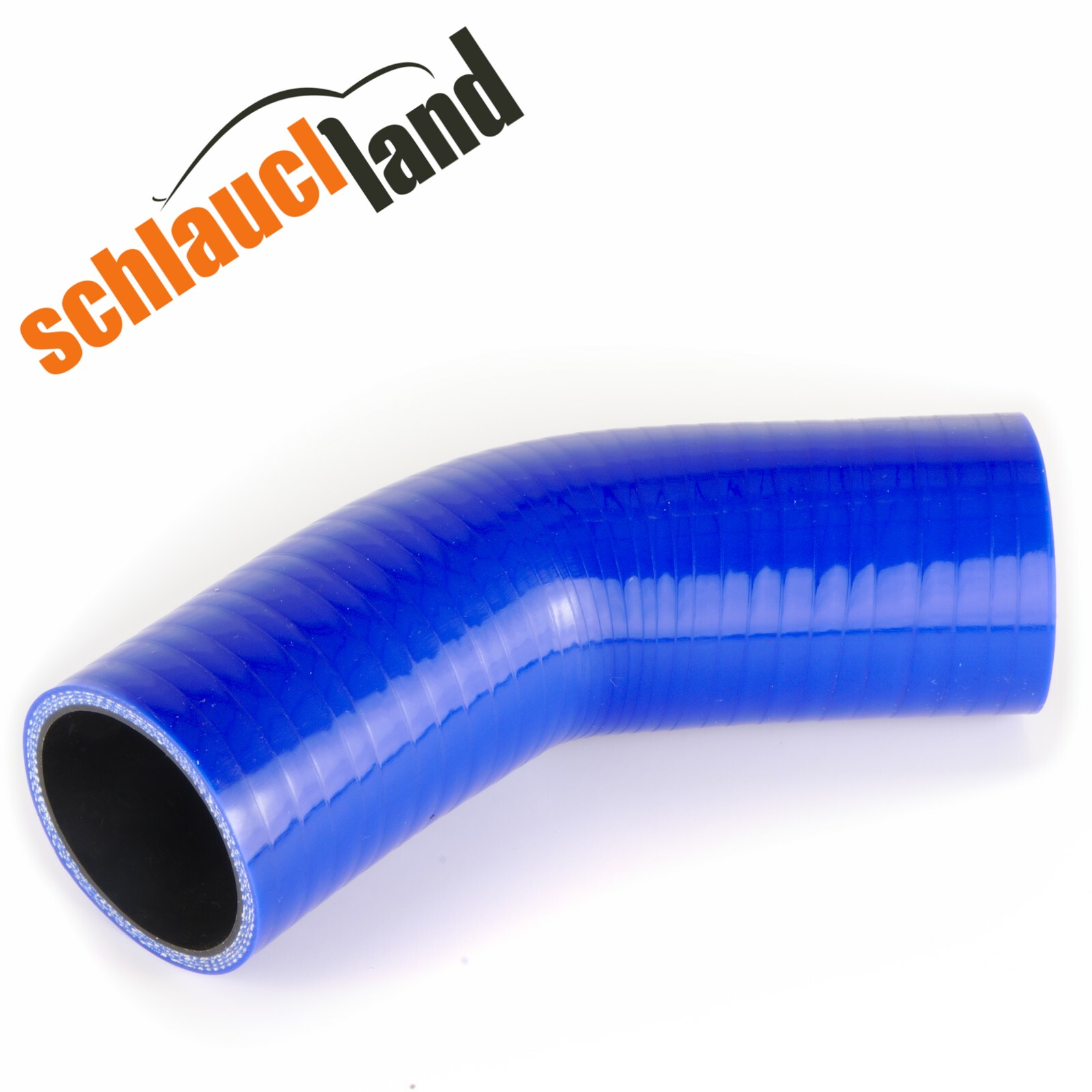 Silikonbogen 45° Innendurchmesser 51 mm / Blau