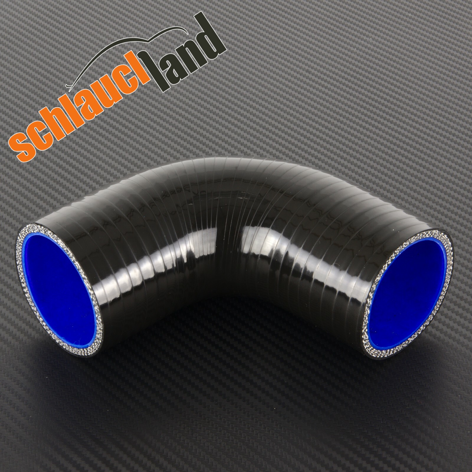 Silikonbogen 90° Innendurchmesser 60 mm / Schwarz