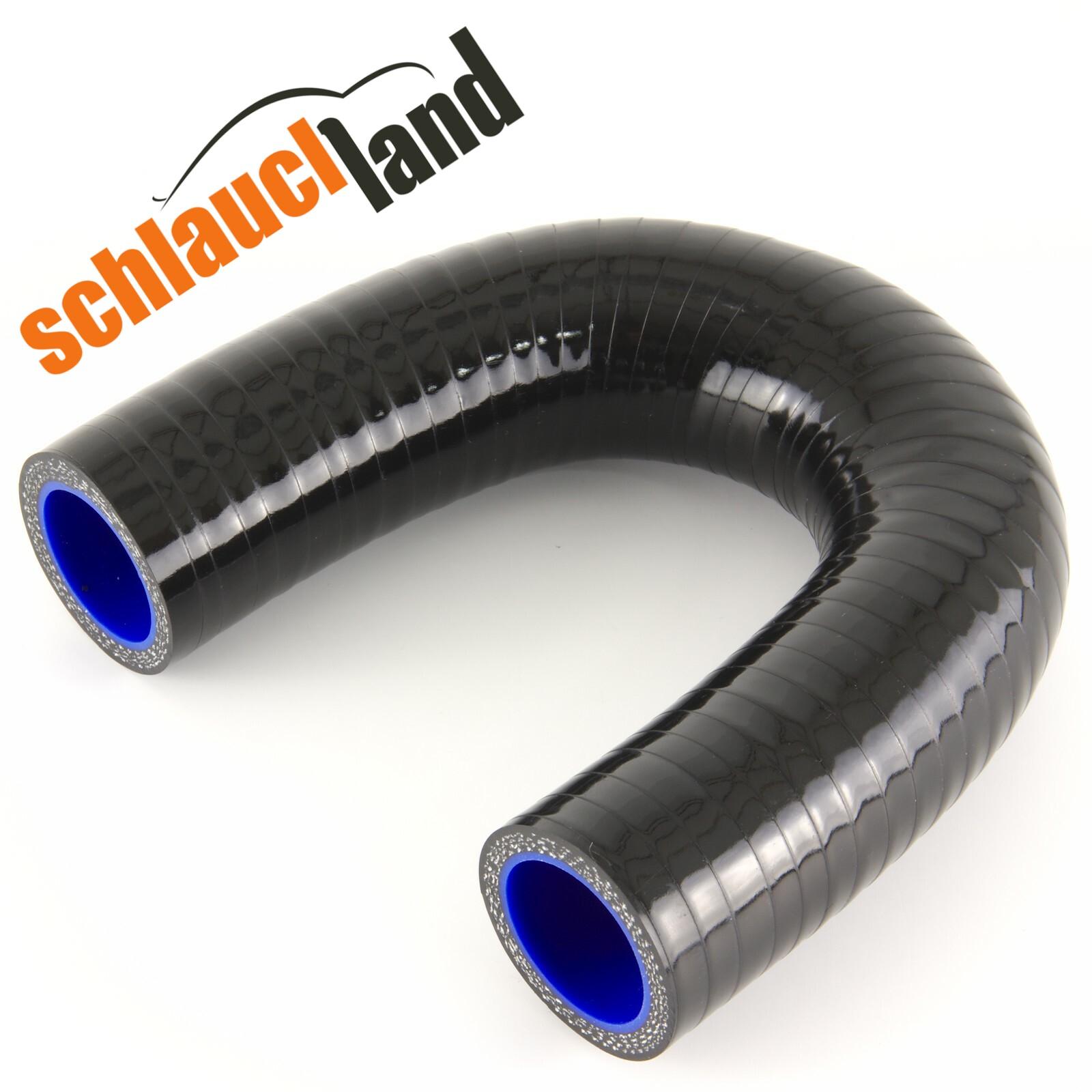 Silikonbogen 180° Innendurchmesser 67 mm / Schwarz