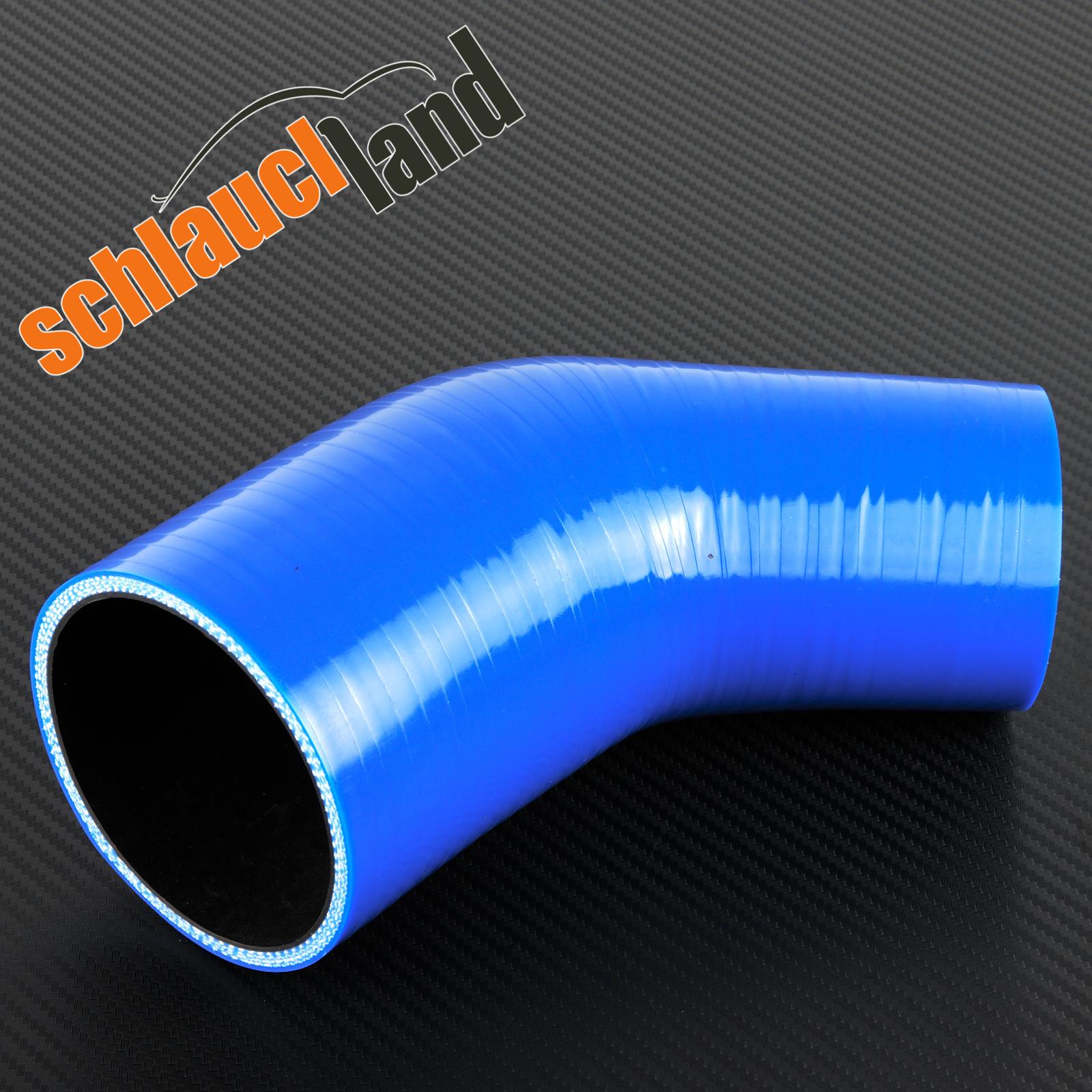 90/° Silikon-Reduzierbogen ID 76-64mm blau*** Silikonschlauch Reduzierer Reduzierung LLK