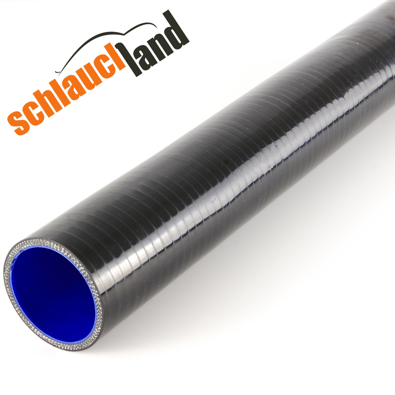 0,50m Silikon-Schlauch Innendurchmesser 30mm / Schwarz